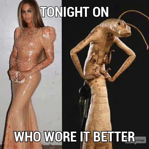 Who wore it better? - meme