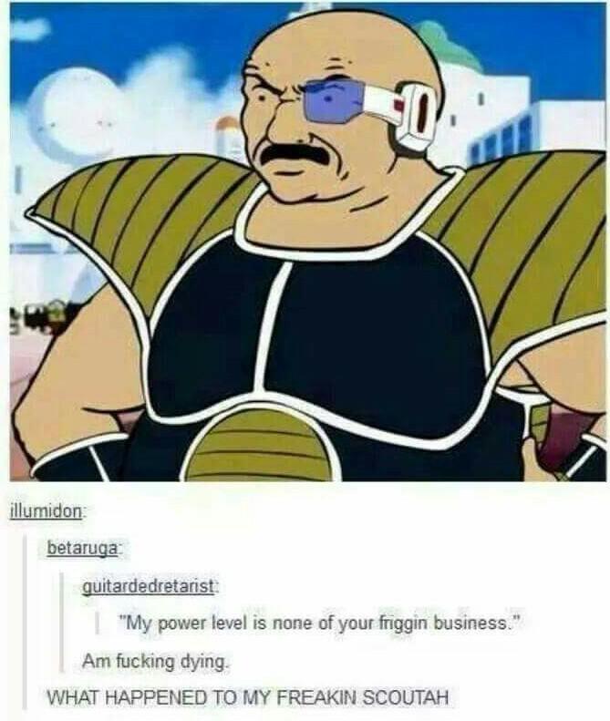 My power levels non of ya frekin business - meme