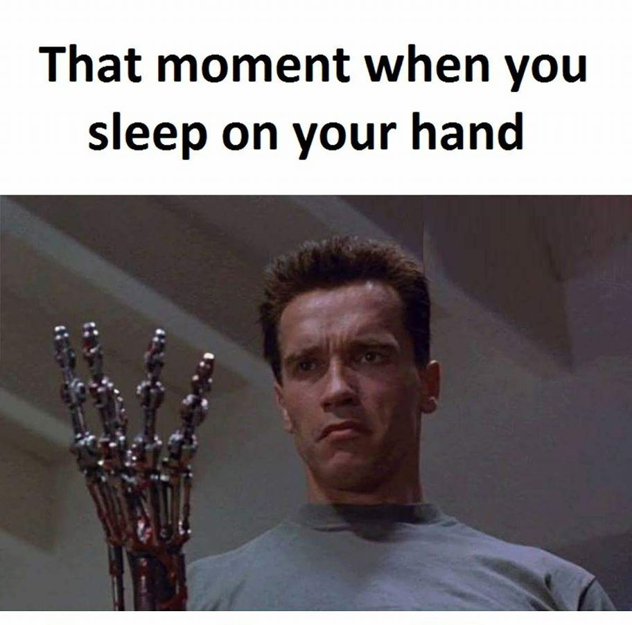 Terminator of hands - meme