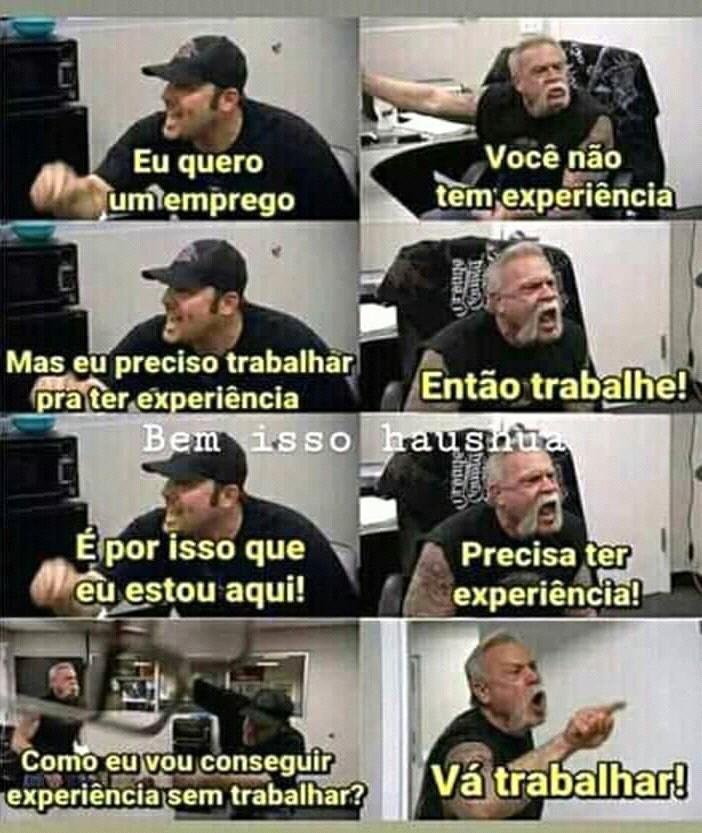Experiência - meme