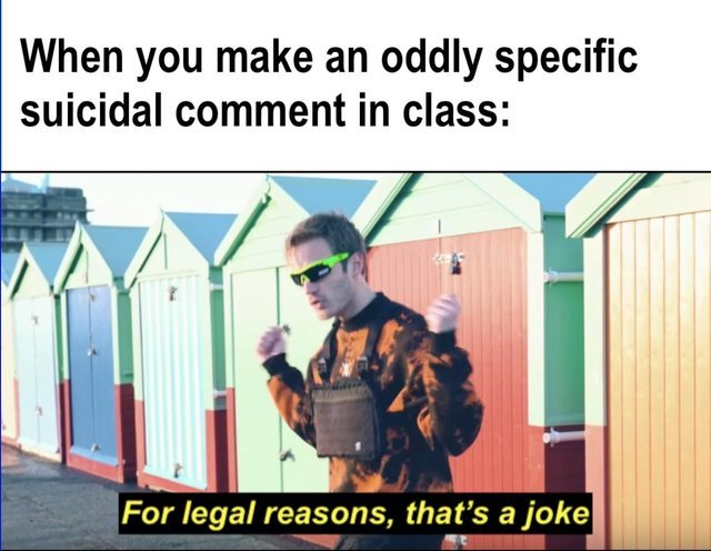 For legal reasons, that's a joke - meme