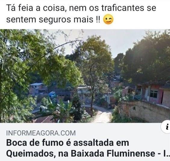 O Brasil é um lugar super tranquilo de morar - meme