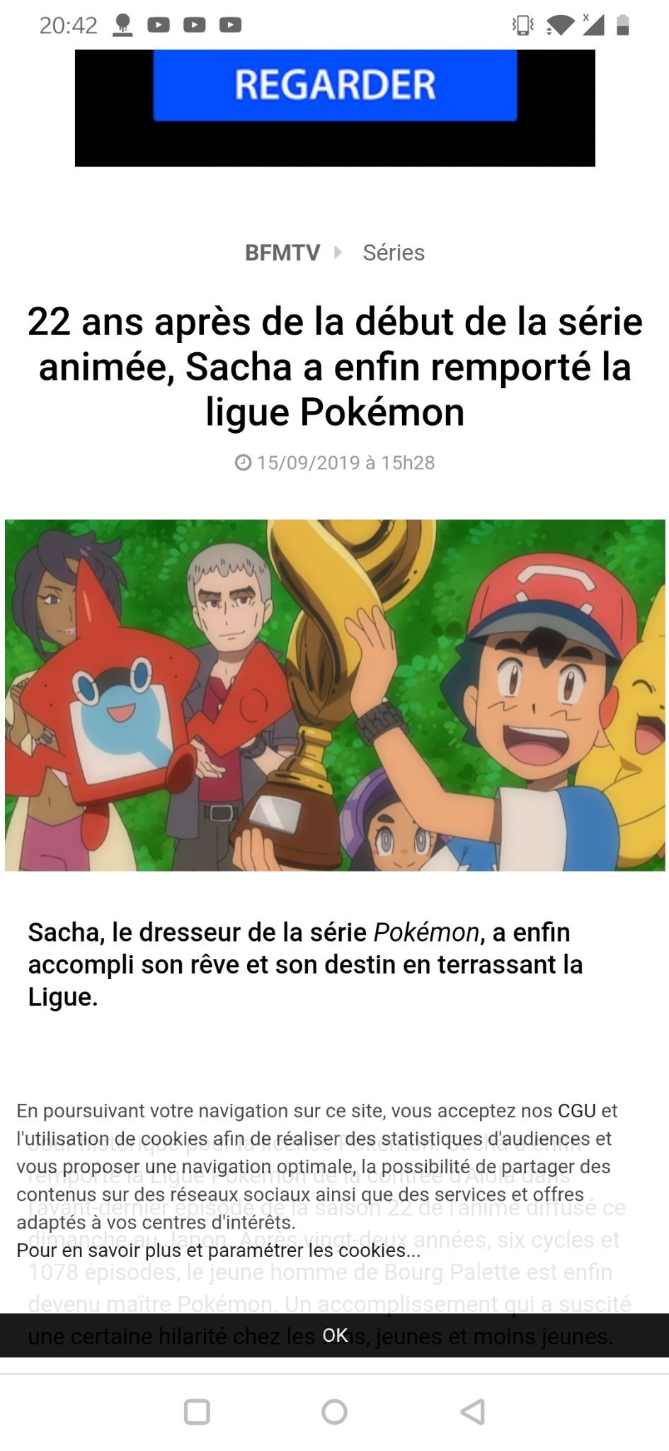 Wow je suis tellement fier de sacha qui a ENFIN gagner la ligue Pokémon après 22ans.....gg mec - meme