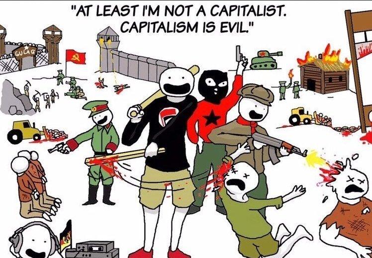 """Traducción: """"Al menos no soy un capitalista, el capitalismo es malo"""" - meme"""
