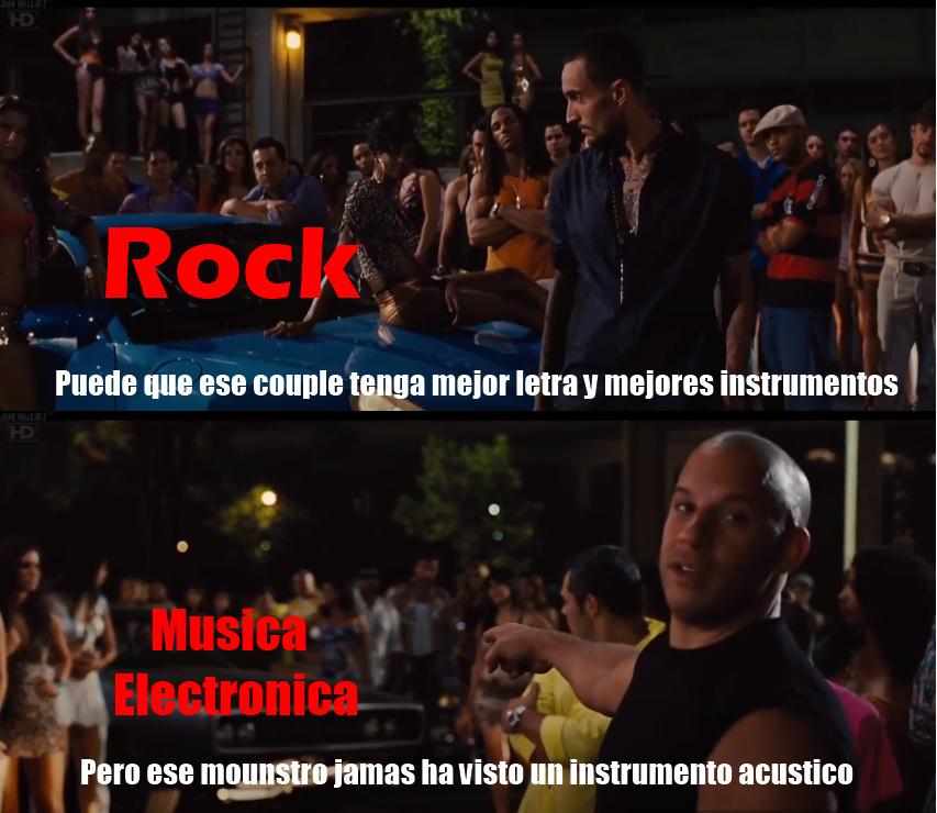 Rock gud, electro bad. - meme