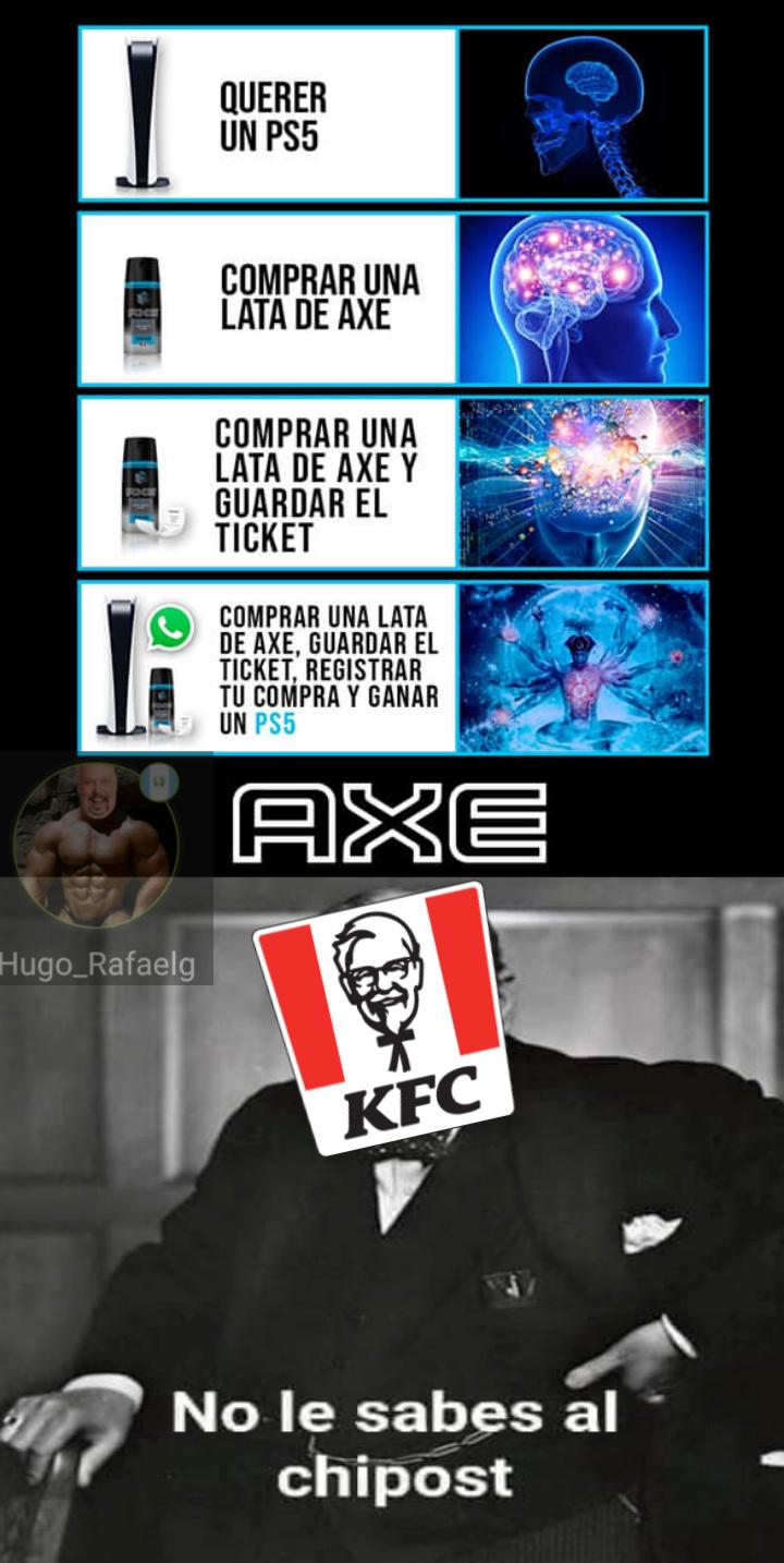 Solo KFC le sabe al shitpost - meme