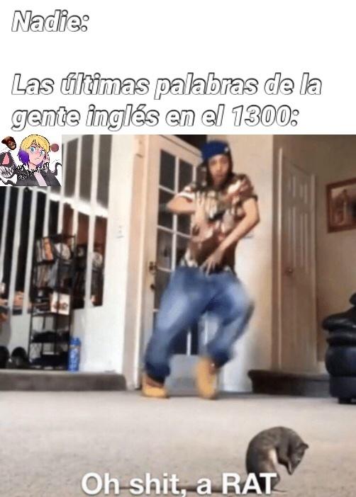 shiiit a rattttttt - meme