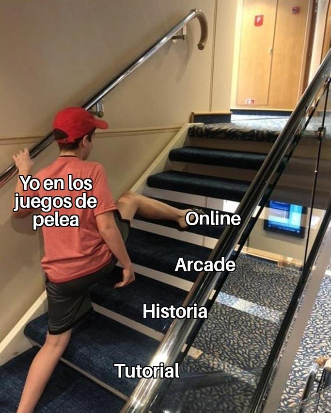 Cuando sale un nuevo juego de peleas - meme