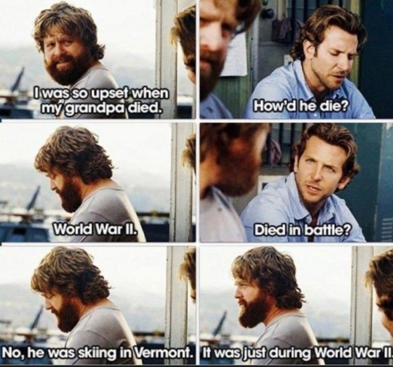 A really recommended movie, The hangover - meme