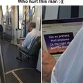 Who hurt this man?