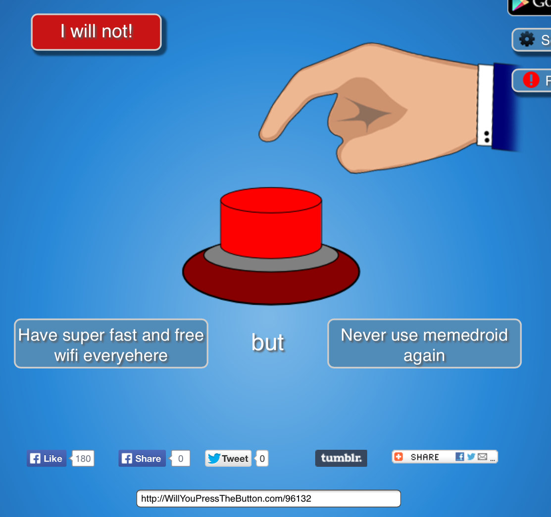 Will you press the button - meme