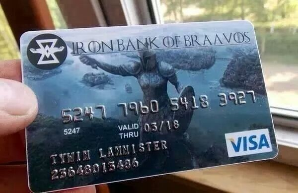 BANK OF BRAAVOS - meme
