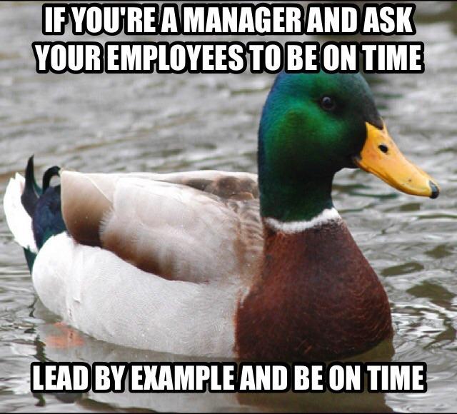 be a true leader - meme