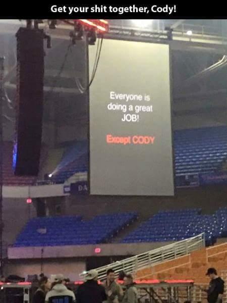 God damn it Cody. - meme