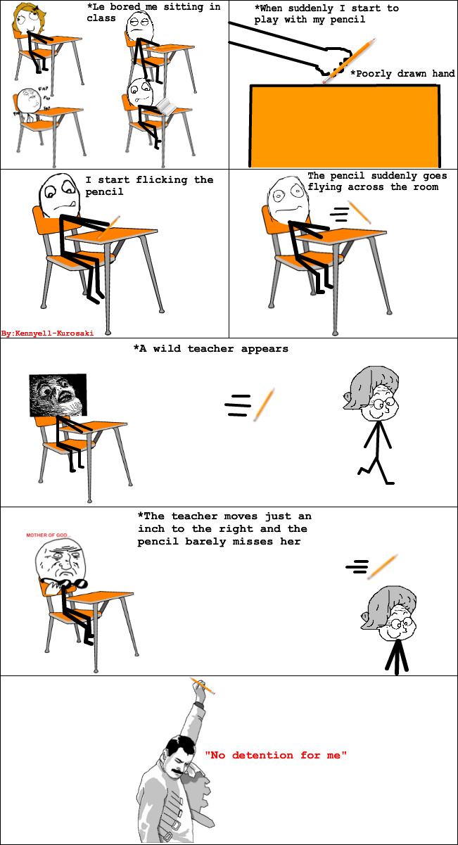 Thank God another student called the teacher over - meme