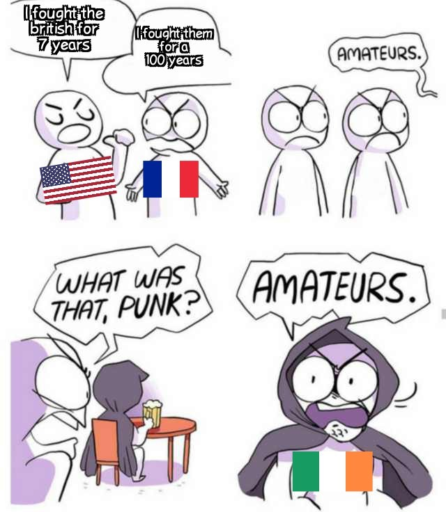 Everybody has fought the British - meme