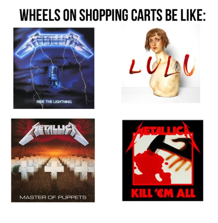 Ride the Lightning best album - meme