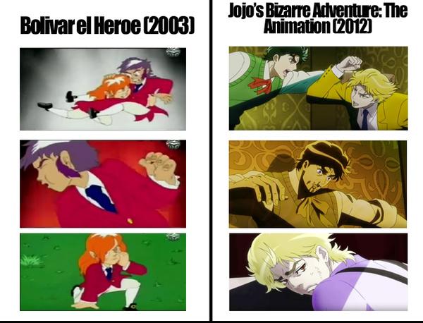 Jojo's es una copia de Bolívar el Heroe - meme