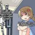 Pobre free fire pobre gráficos de mier** gta san es mejor