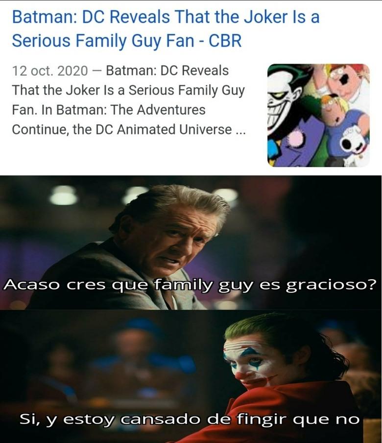 Lo admito, me gusta family guy - meme