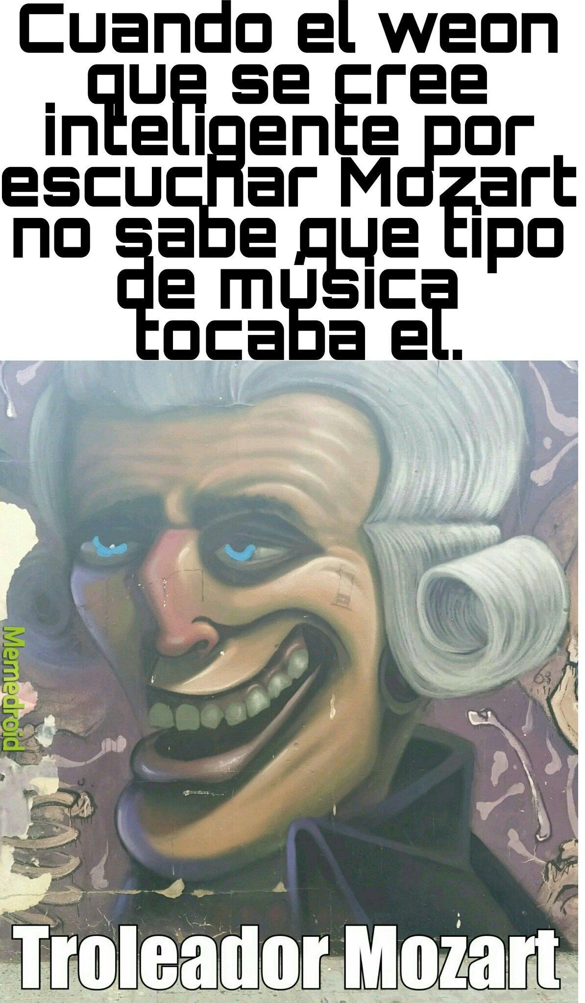 Troleador Mozart - meme
