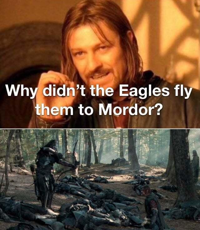 the real reason Boromir was killed - meme