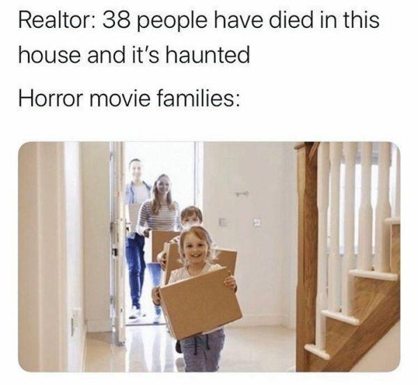 horror movies - meme