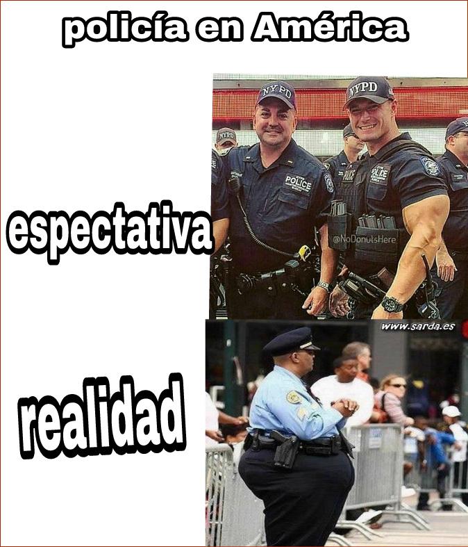 Policia americana - meme