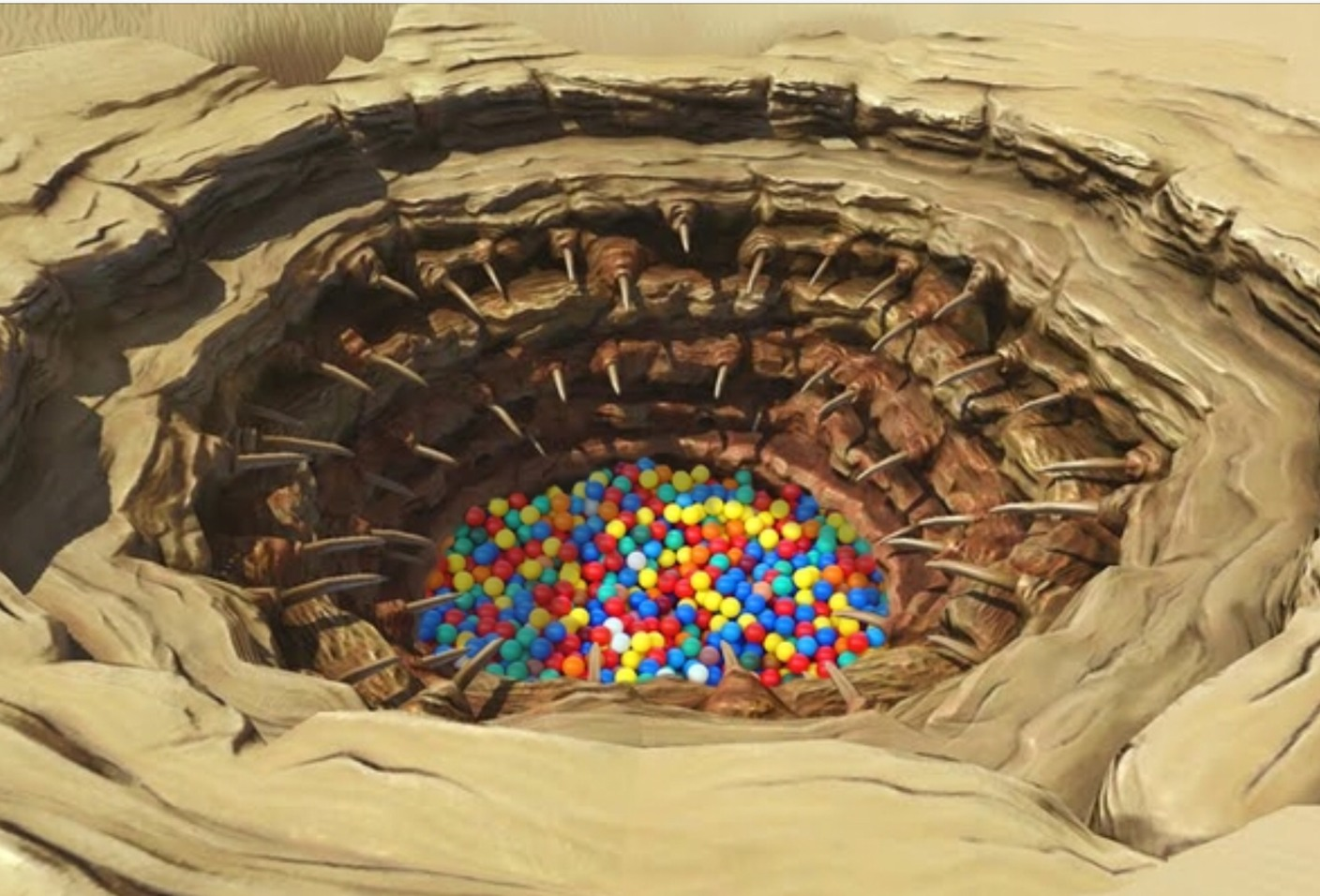 Sarlac ball pit if you star wars nerd you will find this funny - meme