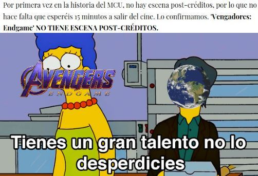 y los post creditos? - meme