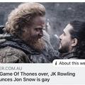 JK Rowling announces Jon Snow is gay