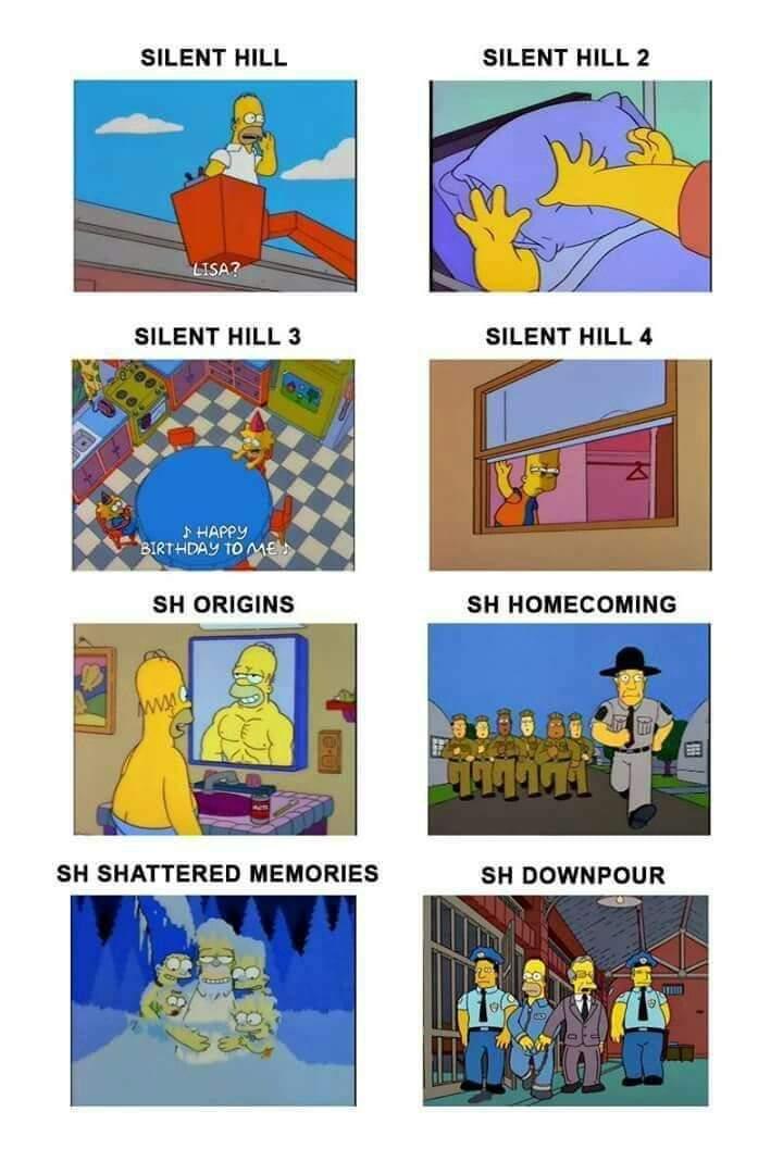 los simpson predijeron silent hill - meme