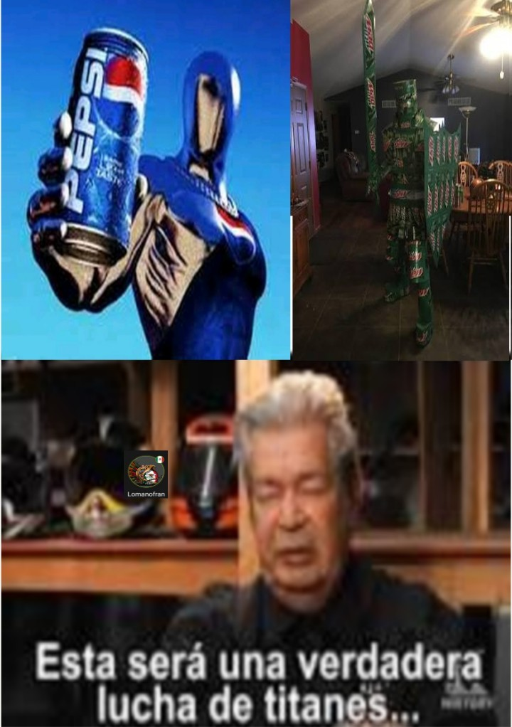 MountainDew Knight vs Pepsiman - meme