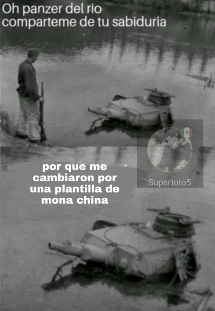 Panzer del rio es mejor - meme
