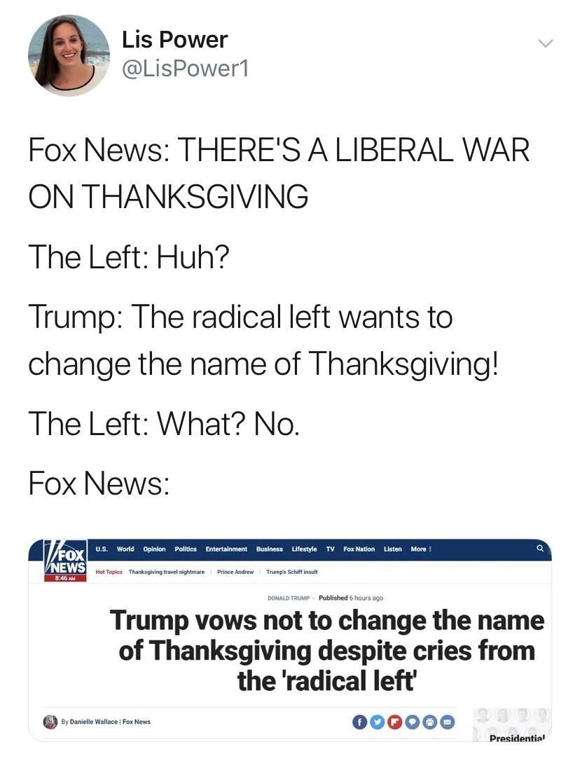 Fox is the epitome of fake news - meme