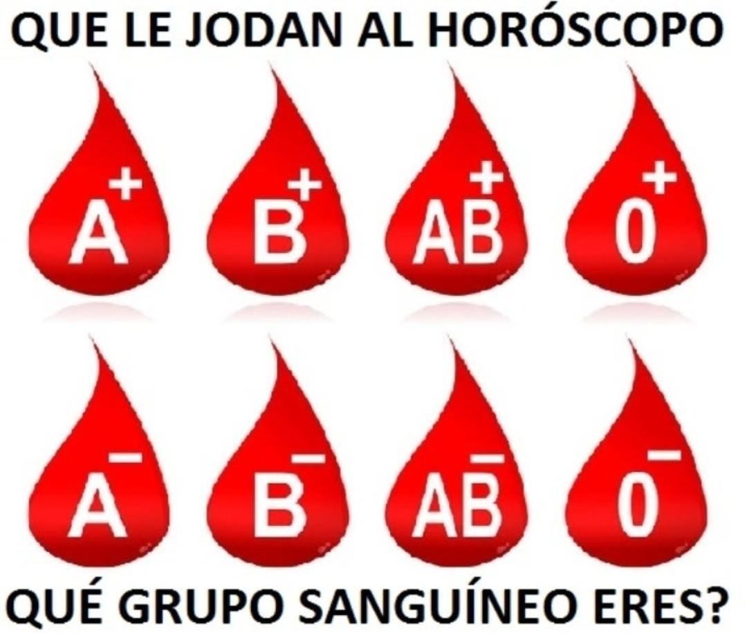 Que grupo sanguíneo sos? - meme