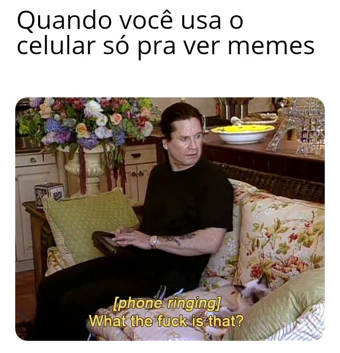Ozzy interagindo com a tecnologia - meme