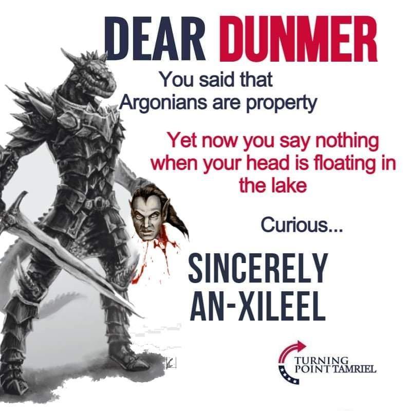 Fuck the dunmers - meme