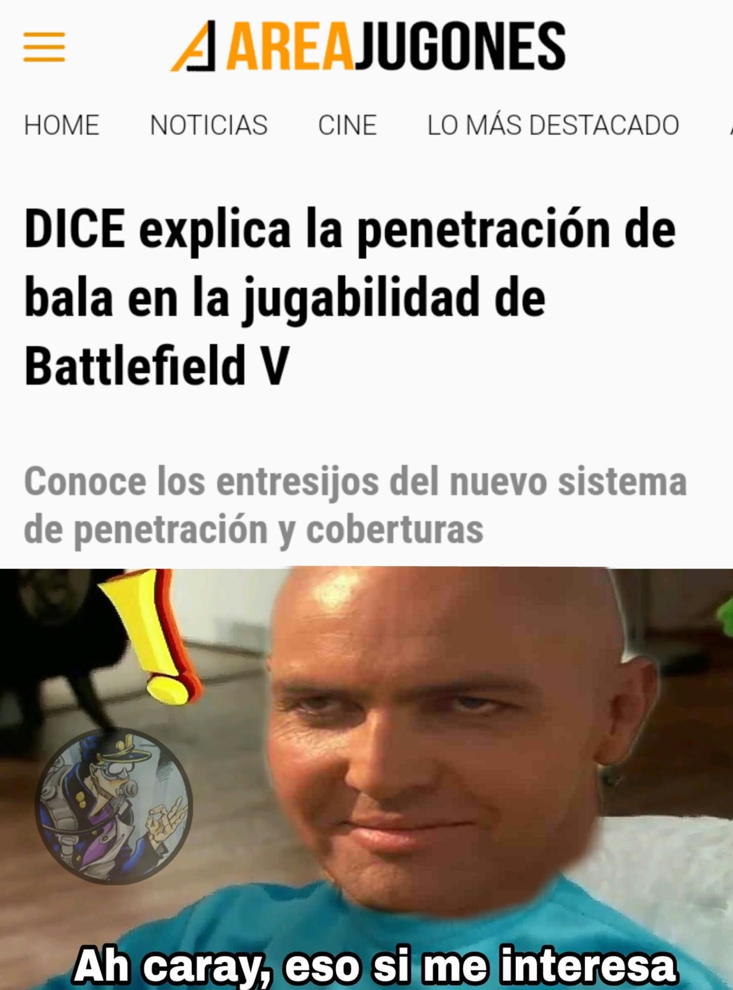 Battlefield y sus penetraciones de bala ( ͡° ͜ʖ ͡°) - meme