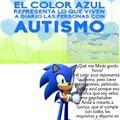 Gonza tiene remera azul.