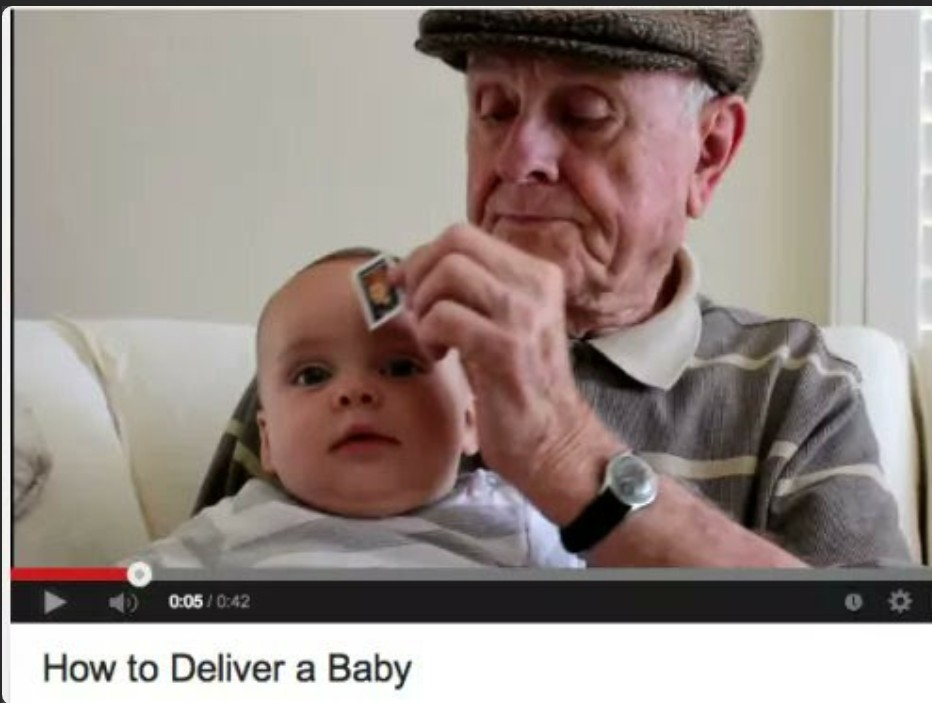 Step 1 apply stamp to baby - meme