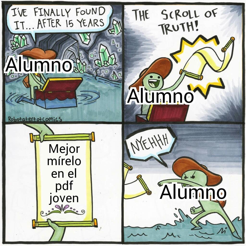 me cago en el pdf - meme