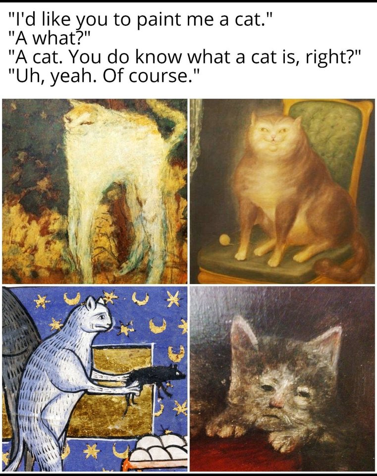Medieval artists were built differently - meme