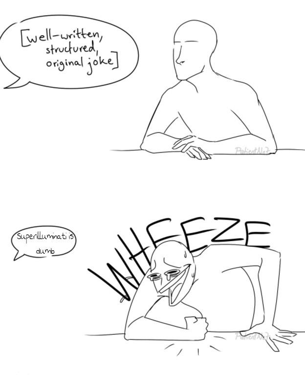Haha le ban superilluminati xD - meme