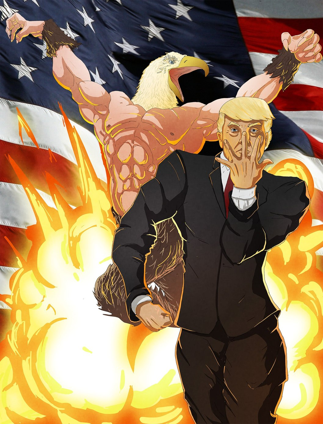 Stand master :donald trump stand name: the wall - meme