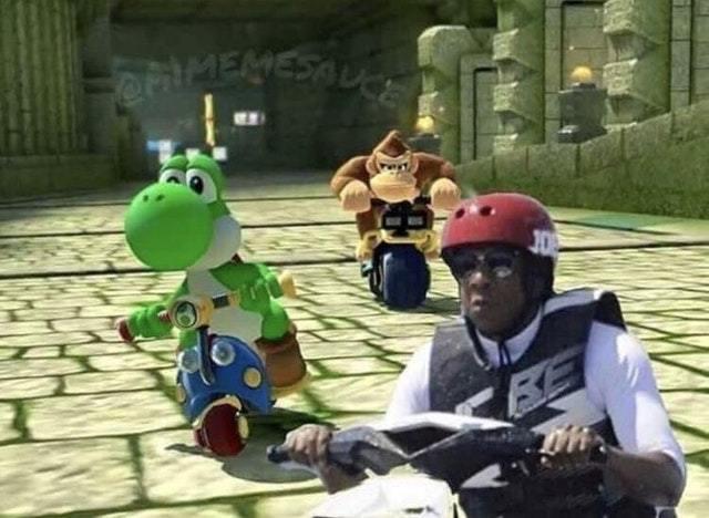 Jay-Z in Mario Kart - meme