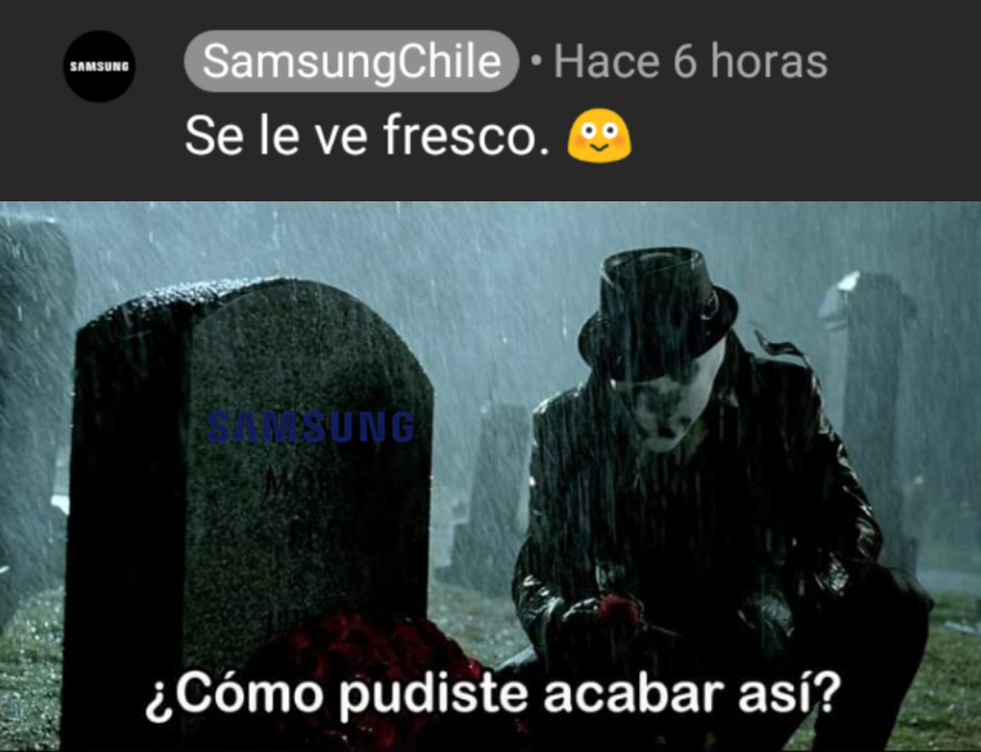 Samsung es respetable? - meme
