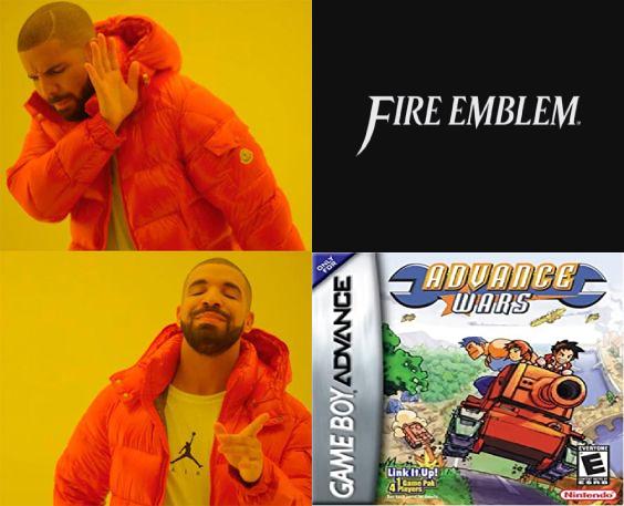Fire Emblem vs Advance Wars - meme