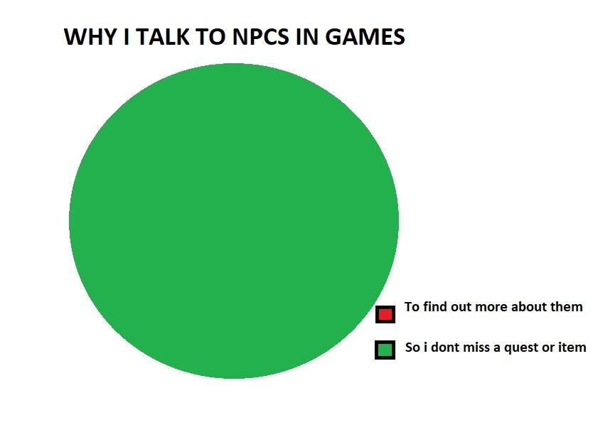 Why i talk to npcs in games - meme