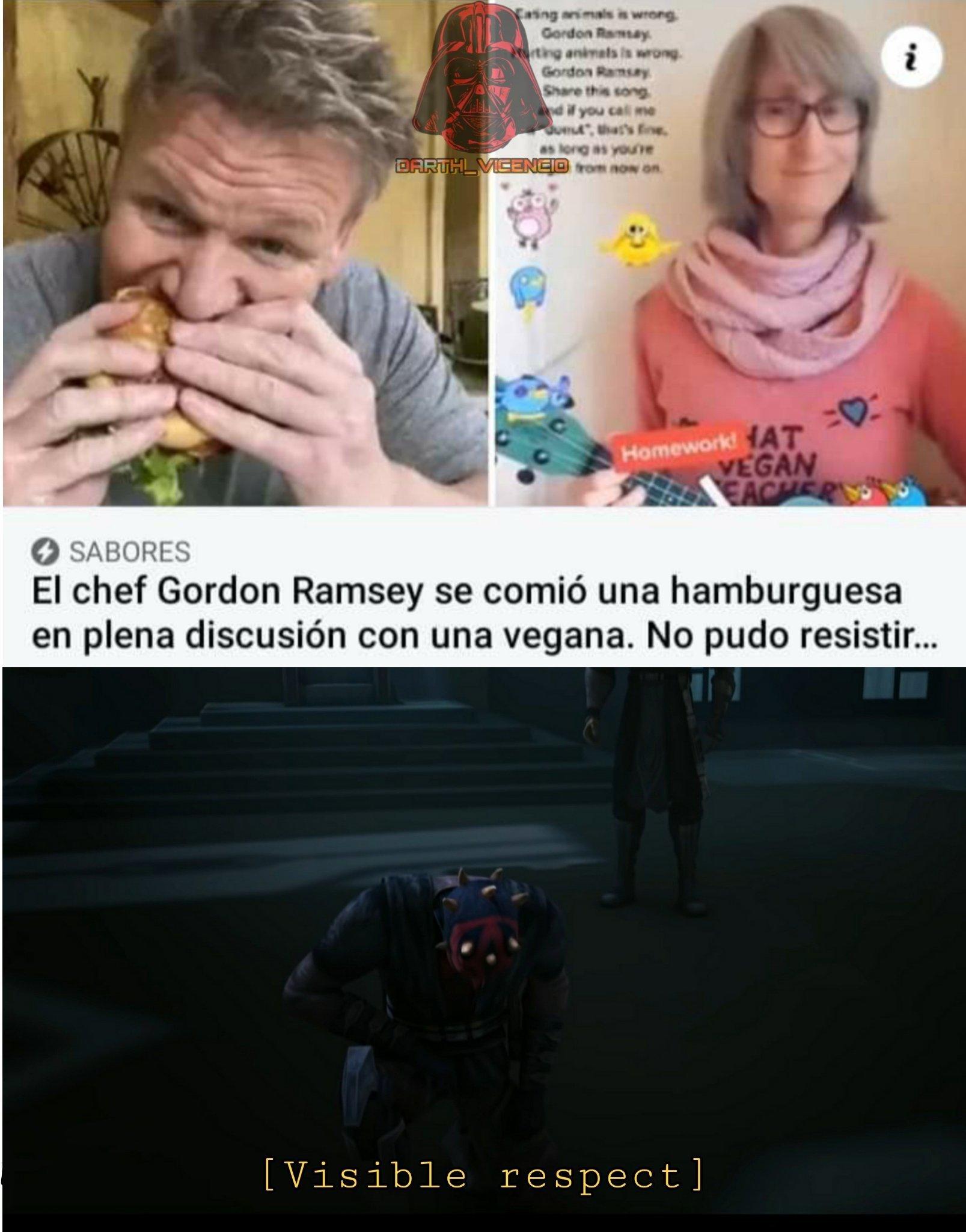 Gordon Ramsay sin miedo a la funa - meme